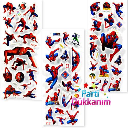 Spiderman Sticker (7*17 cm ) 1 Adet