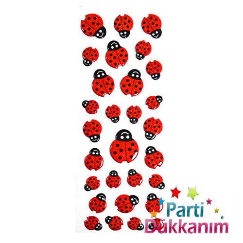 Uğur Böceği Sticker (60 adet) 7x17 cm