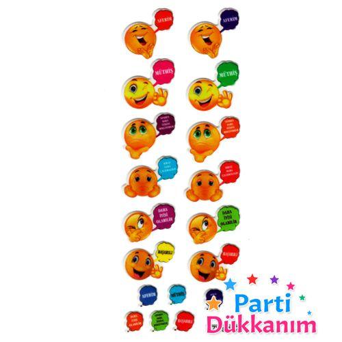 Gülenyüz Emoji Sticker (7x17cm), fiyatı