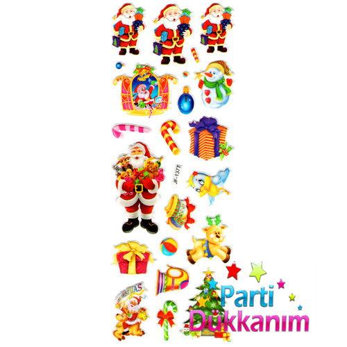 Noel Baba Yılbaşı Sticker 7x17 cm