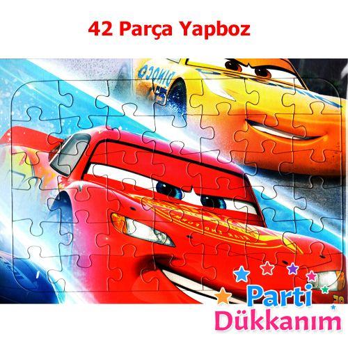 Cars Simsek Mcqueen Yapboz 31x22cm