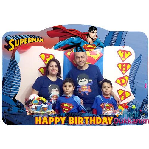 Superman Fotoğraf Çekme Hatıra Çerçevesi (70*100 cm)