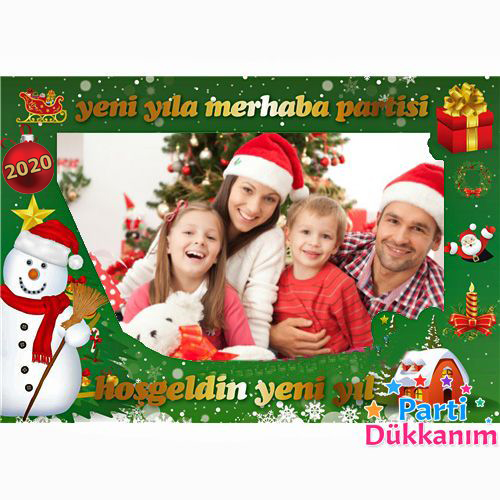 Yeni Yıl Fotoğraf Çekme Hatıra Çerçevesi (60x90 cm)