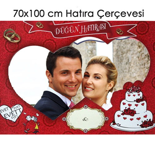 Düğün ve Kına Hatıra Çerçevesi (70x100 cm)