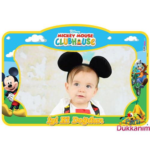 Mickey Mouse Doğum Günü Hatıra Çerçevesi (60*90 cm)