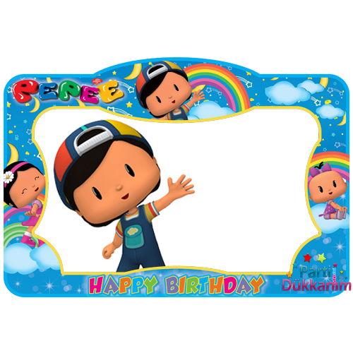 Pepee Doğum Günü Hatıra Fotoğraf Çekilme Çerçevesi (60*90 cm), fiyatı