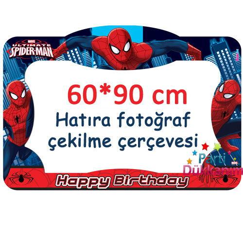Spiderman Fotoğraf Çekme Hatıra Çerçevesi (60*90 cm), fiyatı