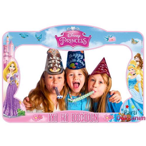 Prensesler Doğum Günü Hatıra Fotoğraf Çekilme Çerçevesi (60*90 cm)