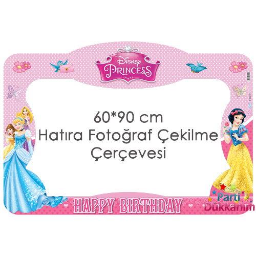 Prensesler Doğum Günü Hatıra Fotoğraf Çekilme Çerçevesi (60*90 cm), fiyatı