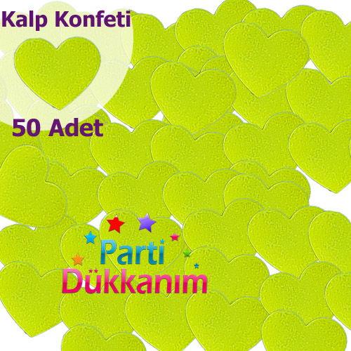 Fıstık Yeşili Kalpli Masa Konfetisi (50 Adet)