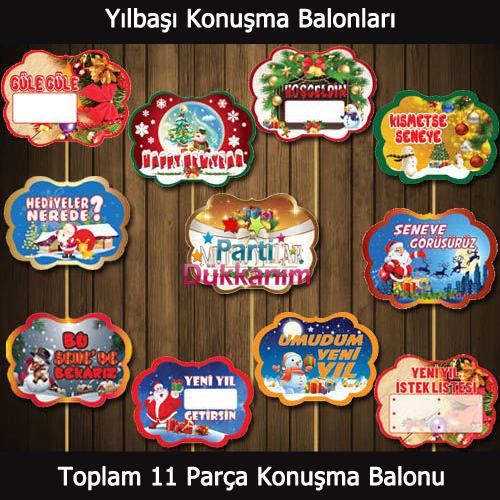 Yılbaşı Konuşma Balonları Seti (11 Parça), fiyatı