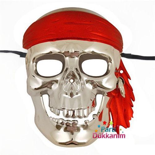 Korsan Maske Gümüş