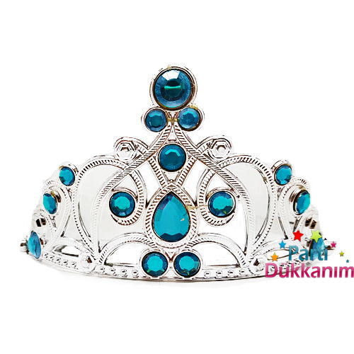 Prenses Tacı Mavi Plastik Parti Dükkanım