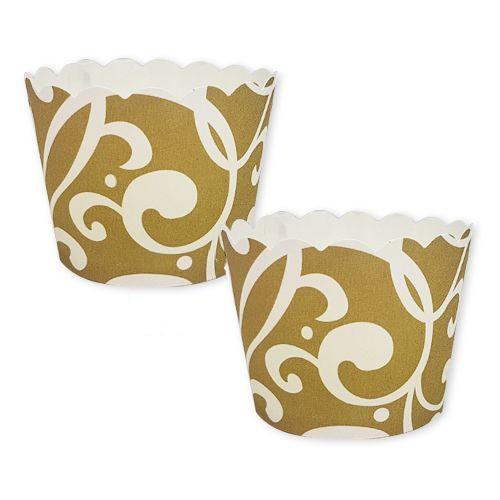 Gold Desenli Kek Kabı (25 adet), fiyatı