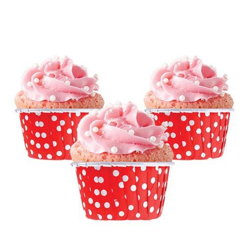 Kırmızı Muffin Kek Kapsülü (50 adet)