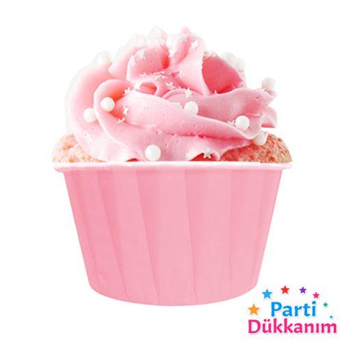 Pembe Muffin Kek Kapsülü (50 adet)