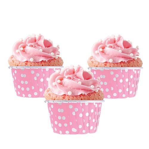 Pembe Muffin Kek Kapsülü (25 adet), fiyatı