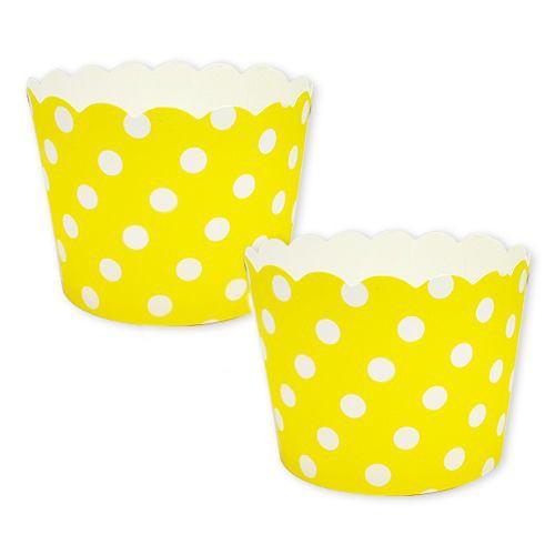 Sarı Puantiyeli Cupcake Kabı (25 adet)