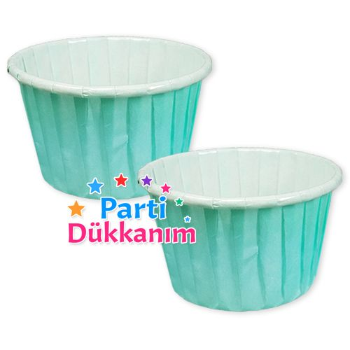 Su Yeşili Muffin Kek Kapsülü (25 adet), fiyatı