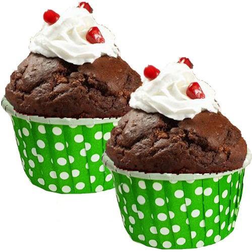 Yeşil Muffin Kek Kapsülü (25 adet)