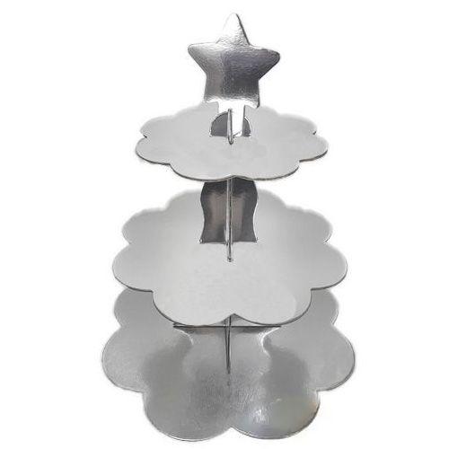 Gümüş Kek Standı (3 Katlı)