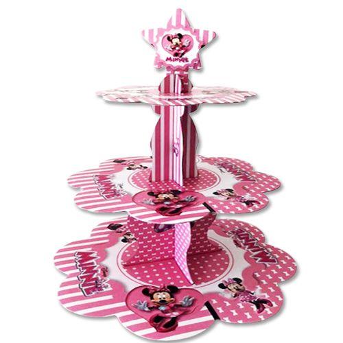 Minnie Mouse 3 Katlı Kek Standı