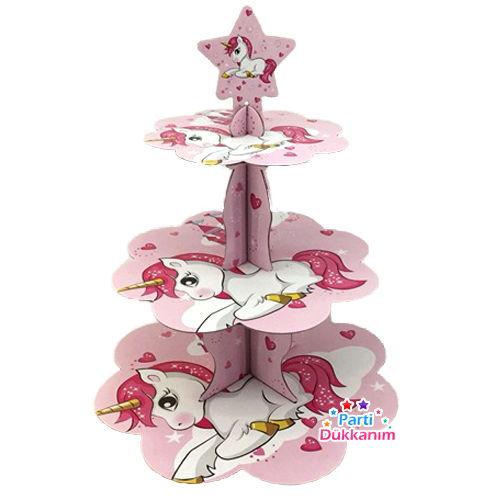 Unicorn Kek Standı 3 Katlı