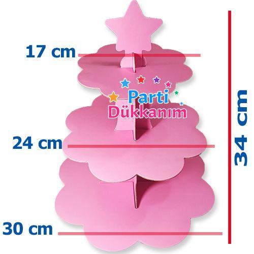 Pembe Kek Standı 3 Katlı, fiyatı