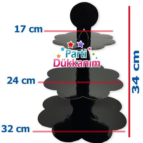 Siyah Kek Standı (3 Katlı), fiyatı