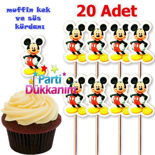 Mickey Mouse Kürdan (20 Adet)