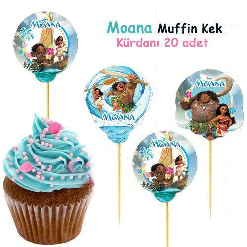 Moana Muffin Kap Kek Kurdani 20 Adet