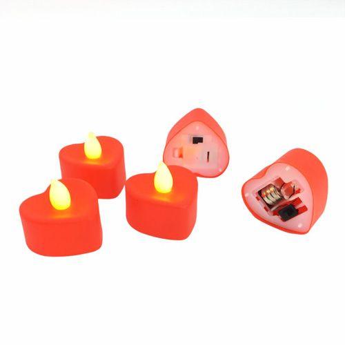 Kırmızı Kalpli Led Mum 1 adet, fiyatı