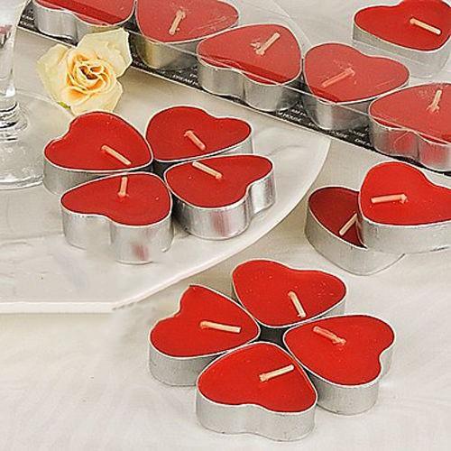Kırmızı Kalp Tealight Mum 7 Adet, fiyatı