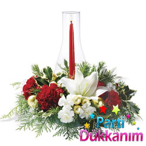 Kırmızı Şamdan Mumu 3 Adet (26 cm), fiyatı
