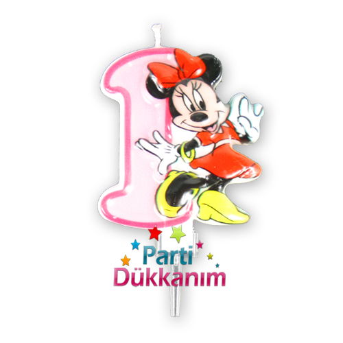 1 Yaş Mum ( Minnie Mouse)