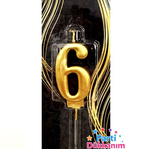 6 Yaş Mumu Gold