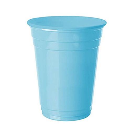 Açık Mavi Plastik Lüks Meşrubat Bardağı (8 adet