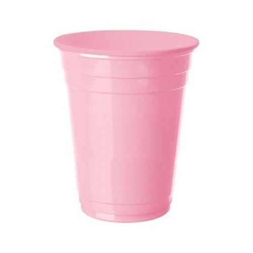Pembe Plastik Meşrubat Lüks Bardak (8 Adet), fiyatı