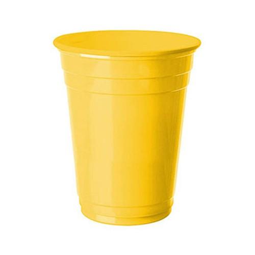 Sarı Plastik Büyük Lüks Bardak (8 Adet)