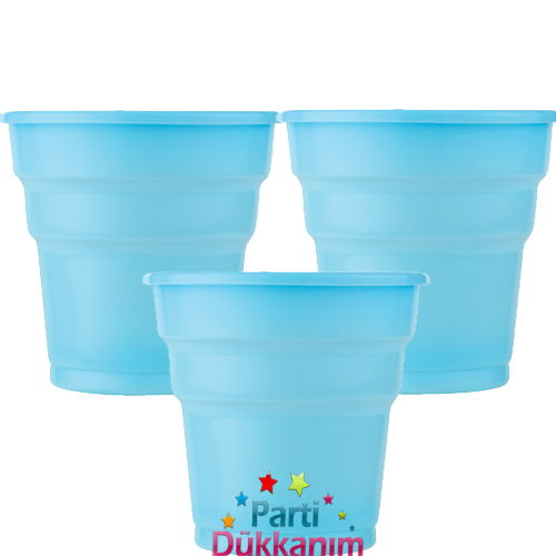 Açık Mavi Plastik Bardak Lüks (25 adet)
