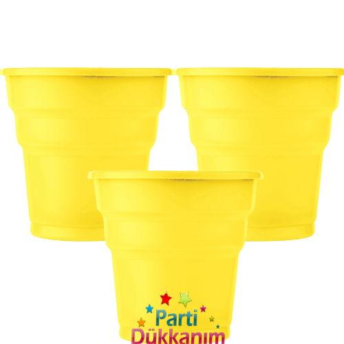Sarı Plastik Bardak Lüks (25 adet)