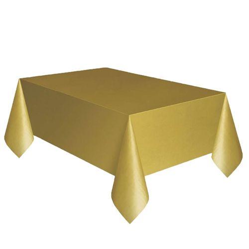 gold plastik masa örtüsü