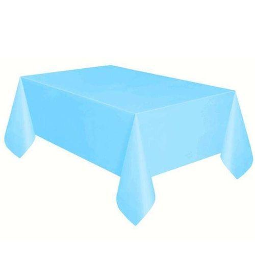 Açık Mavi Masa Örtüsü Plastik Lüks 137x183