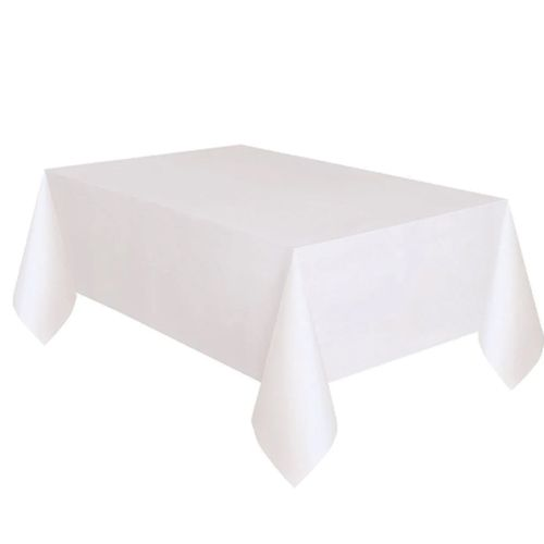 Beyaz Masa Örtüsü Plastik Lüks 137x183 cm