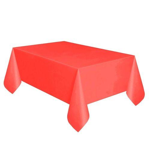 Kırmızı Masa Örtüsü Plastik Lüks 137*183 cm