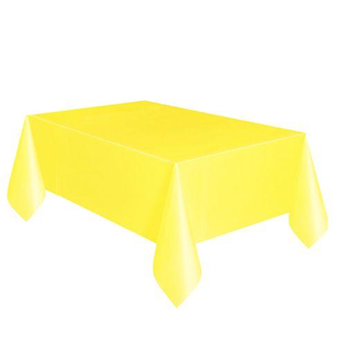Sarı Masa Örtüsü Plastik Lüks 137x183 cm