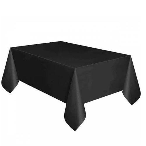 Siyah Masa Örtüsü Plastik Lüks 137x183 cm