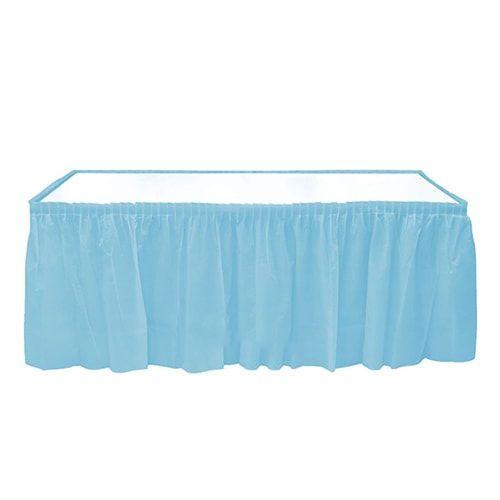 Açık Mavi Plastik Masa Eteği (75x426 cm)