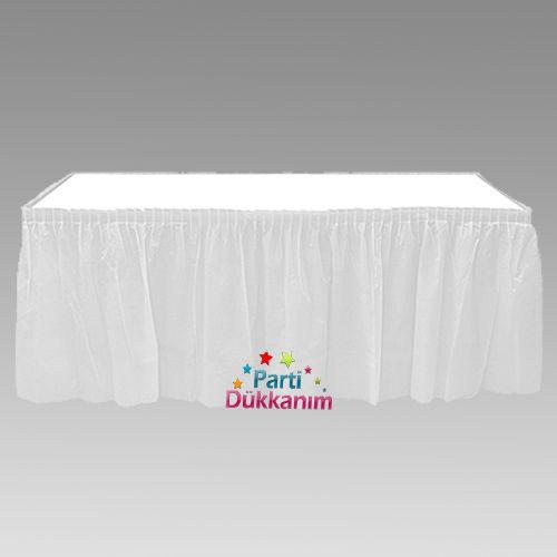 Beyaz Plastik Masa Eteği (75x426 cm)