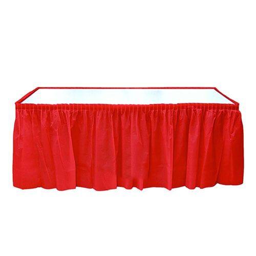 Kırmızı Plastik Masa Eteği (75x426 cm)